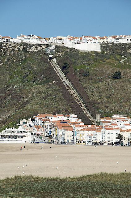 The funicular railway in Nazare - Portugal