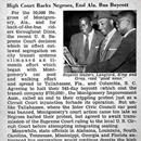The Supreme Court of the United States declares Alabama laws requiring segregated buses illegal, thus ending the Montgomery Bus Boycott. The Montgomery Bus Boycott, a seminal event in the U.S. civil rights movement, was a political and social protest campaign against the policy of racial segregation...The Supreme Court of the United States declares Alabama laws requiring segregated buses illegal, thus ending the Montgomery Bus Boycott. The Montgomery Bus Boycott, a seminal event in the U.S…