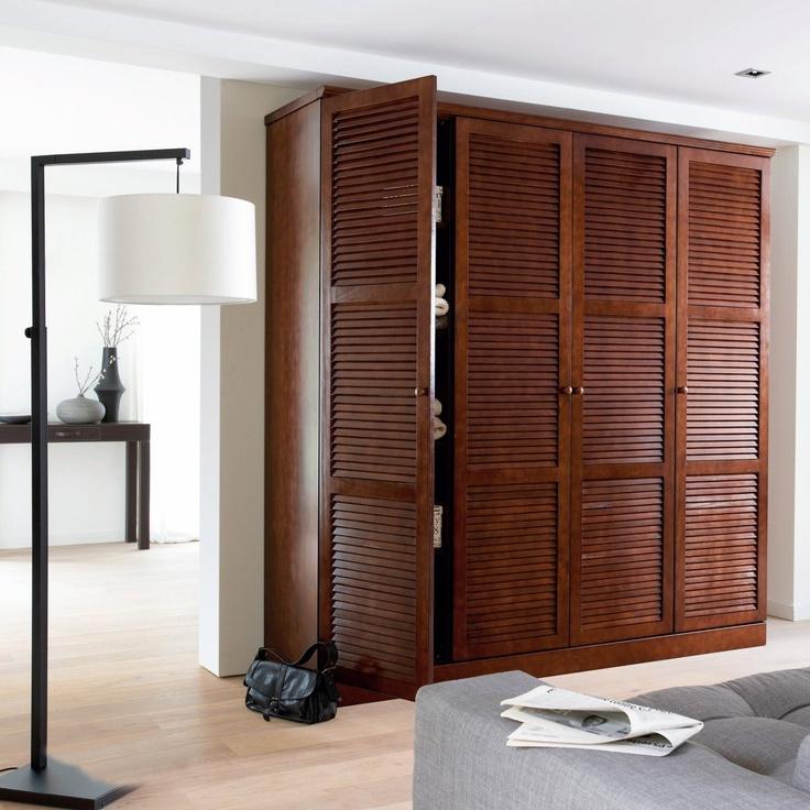Les 25 meilleures id es concernant armoire pin massif sur pinterest etagere - Armoire lingere sans penderie ...