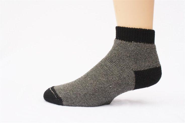 """""""SlipperBootie"""" Alpaca Sock- Grey"""