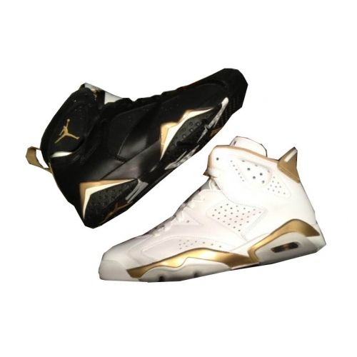 Air Jordan 6 7 Gold Medal Pack (Olympic Pack ) 2012 White Gold And Black  Gold 535357-935  119.00  df5583497