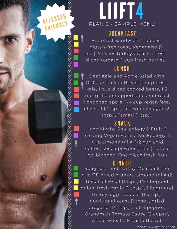 Liift4 Meal Plan in 2020 Beachbody meal plan, 21 day fix