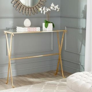 Shop for Safavieh Lavar Gold Console. Get free shipping at Overstock.com - Your Online Furniture Outlet Store! Get 5% in rewards with Club O!