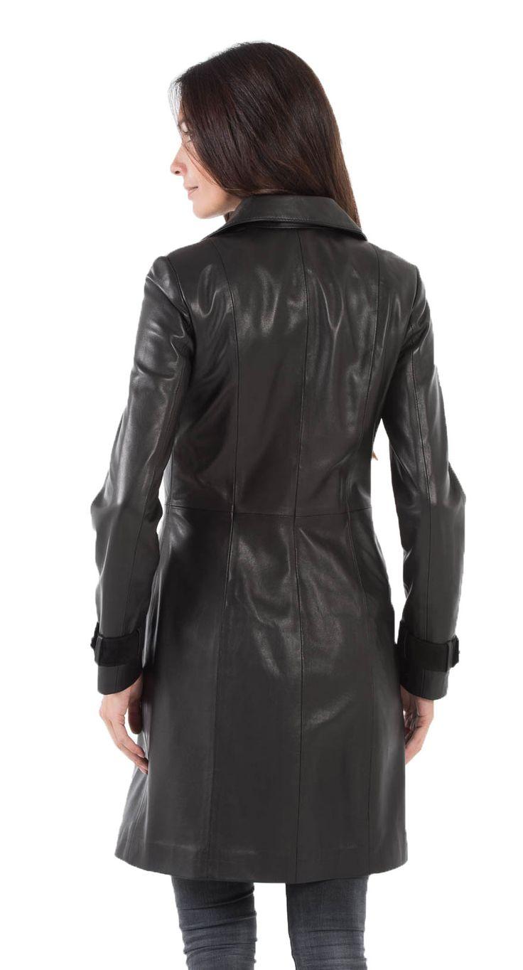 Manteaux en cuir CUIRS GUIGNARD en cuir agneau-ref 5043 yag16-noir