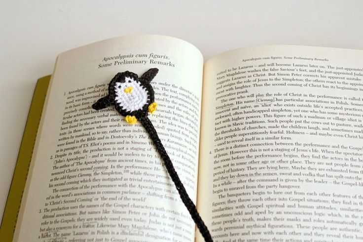 Pinguin bookmark, Crochet Pinguin, Book accessory, Cute Bookmark, Pinguin gift by PetyaTwinkles on Etsy