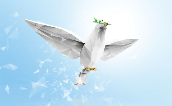 Dove of peace Advertising, Fine Arts, Illustration