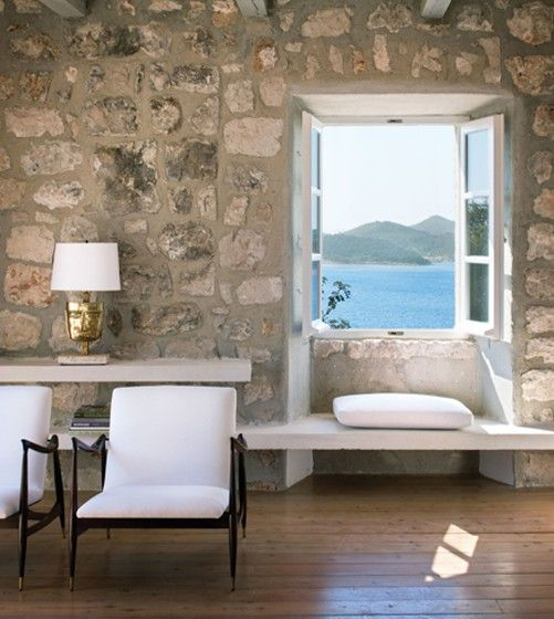 Sweet And Simple Window Seat With A Great View.