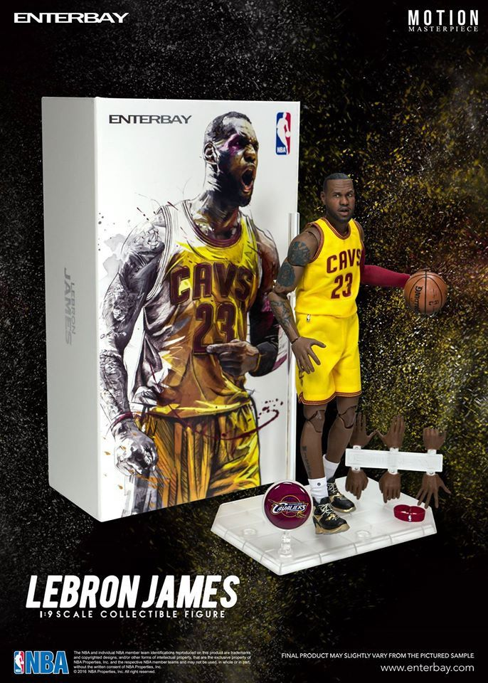 """LeBron James (Cleveland Cavaliers) 1/9th Scale 8"""" Action Figure Enterbay"""