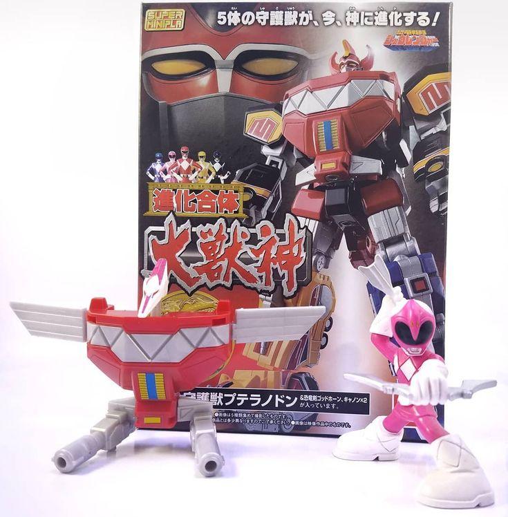 Kyōryū Sentai Zyuranger - 05 PteraRanger Mighty Morphin Power Rangers - 05 Pink Ranger Pterodactyl . Last but not least in the set of five small model kits that combine into Daizyuzin/Megazord . . . #toy #toys #toyphotography #toyphoto #toyphotooftheday #toygroup_alliance #toygallery #toysofinstagram #powerrangers #mmpr #megazord #Pterodactyl #daizyuzin #mightymorphinpowerrangers #zyuranger #pinkranger #bandai #saban #fox #modelkit #japan #sentai #supersentai #toku #Tokusatsu #nerd #geek…