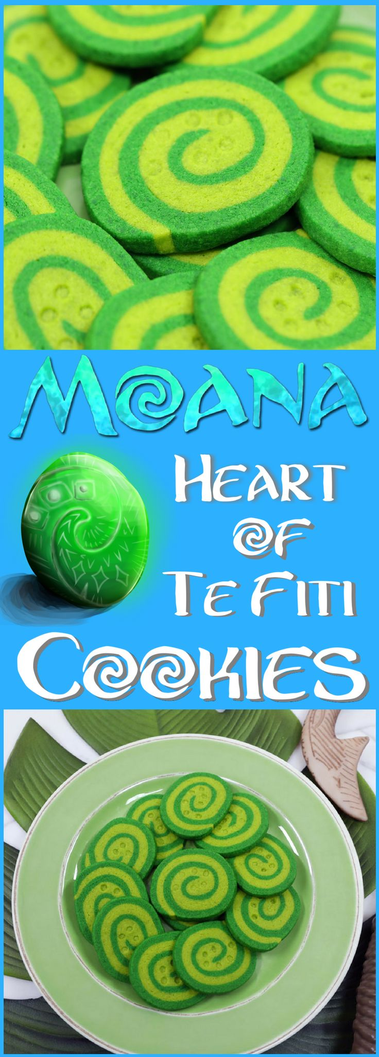 Moana Heart of Te Fiti Cookies