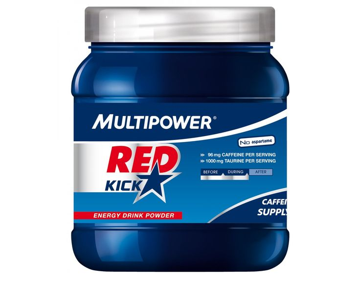 Multipower Getränkepulver Red Kick Multi-Fruit+Koffein+Guarana