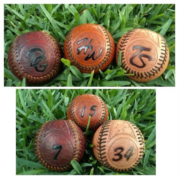 Custom Handmade Leather Baseball Unique gift idea