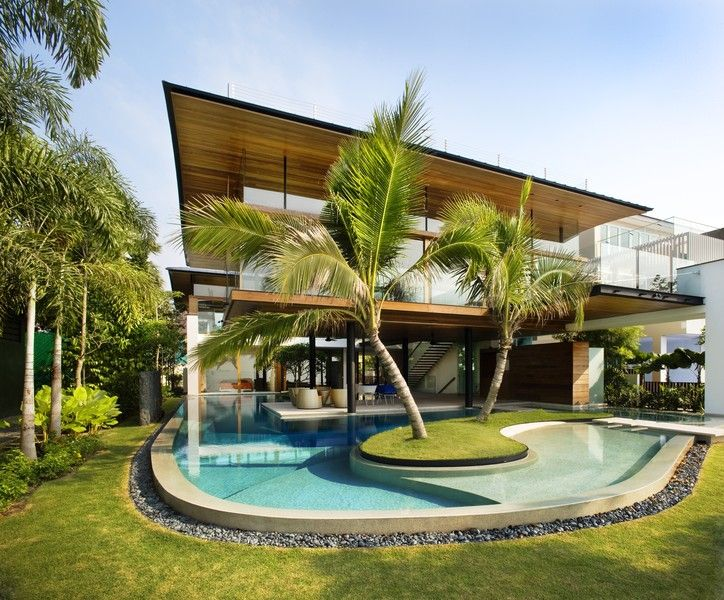 17 best images about houses with pools outside on for Fish house singapore