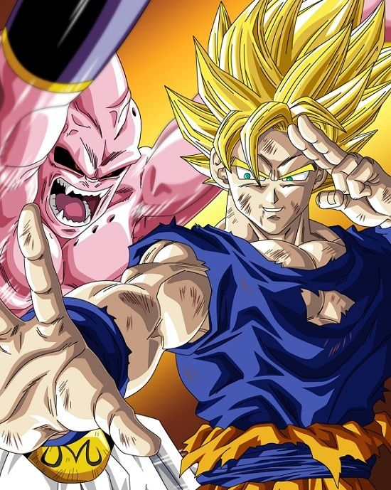 Goku vs Buu l Dragonball Z! One of my favorite seasons! - Visit now for 3D Dragon Ball Z compression shirts now on sale! #dragonball #dbz #dragonballsuper