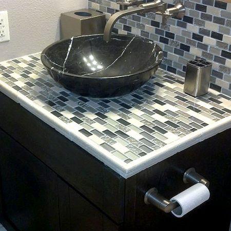 23 Best Images About Bath Countertop Ideas On Pinterest Mosaic Tiles Diy Tiles