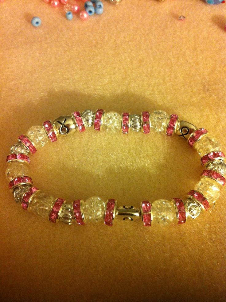 Glitzy pinks bracelet