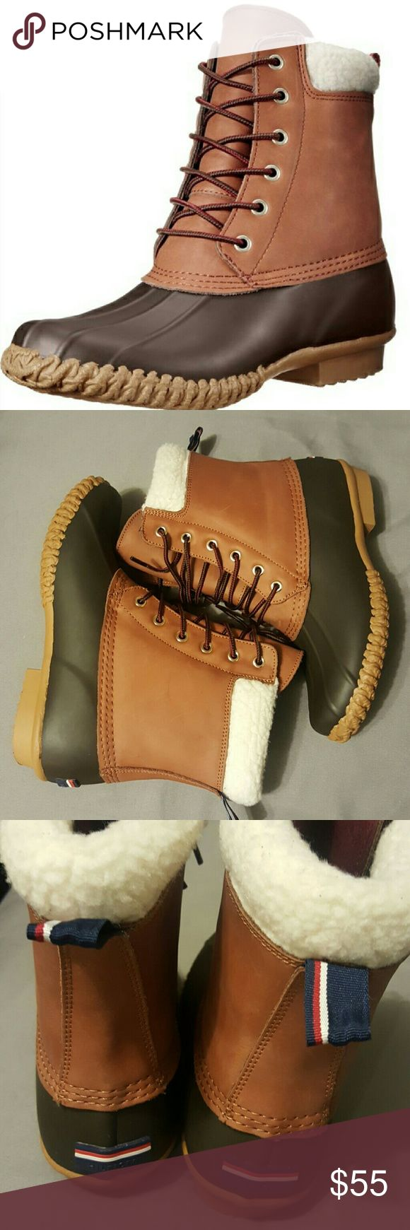 Tommy Hilfiger boots Tommy Hilfiger Faux-Fur Duck Booties size 8 never used. Tommy Hilfiger Shoes Winter & Rain Boots