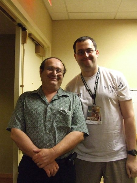 Eric Flint - Author (Left)  Hisham El-Far - Me, Layabout (Right)