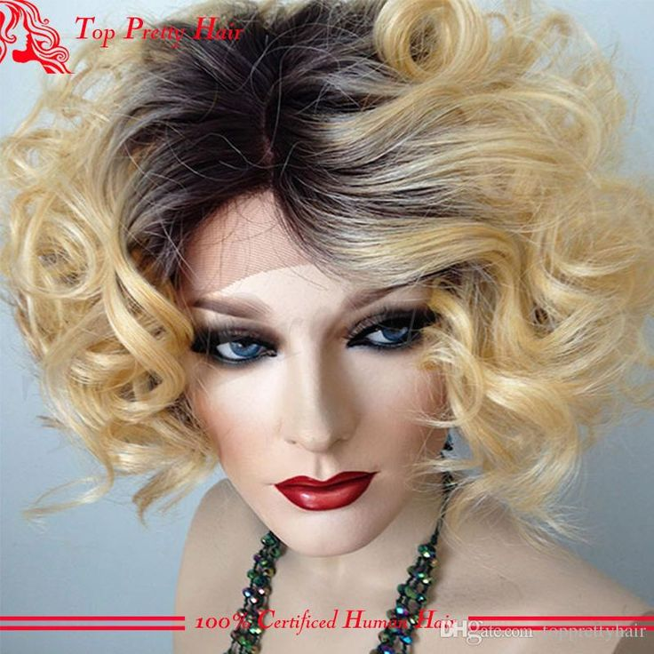 Grade 7a 1b/27 Human Hair Wigs Bleached Knots Glueless Short Curly Ombre Blonde Human Hair Full Lace Wig For White Women Cheap Wigs Online Human Hair Blonde Wigs From Topprettyhair, $148.75| Dhgate.Com