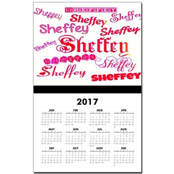 Sheffey Fonts - 9677 - Pink and Red Calendar Print
