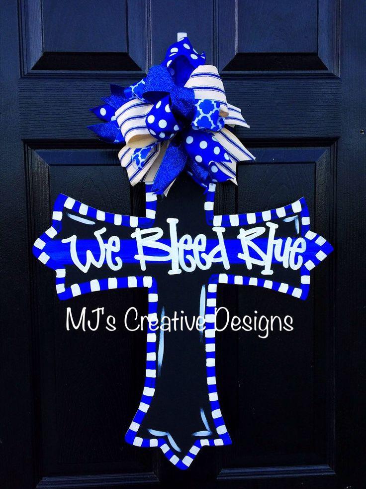 Police Officer Door Hanger We Bleed Blue Door Hanger Karrie on Door Hanger by  sc 1 st  Pinterest & 89 best Law Enforcement Door Hangers images on Pinterest | Police ...