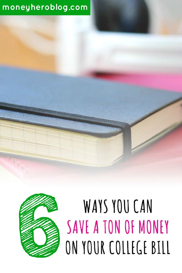 Would you like to save money on your college tuition? I go over six easy ways for you to save money on your college bill. Click to get the tips!