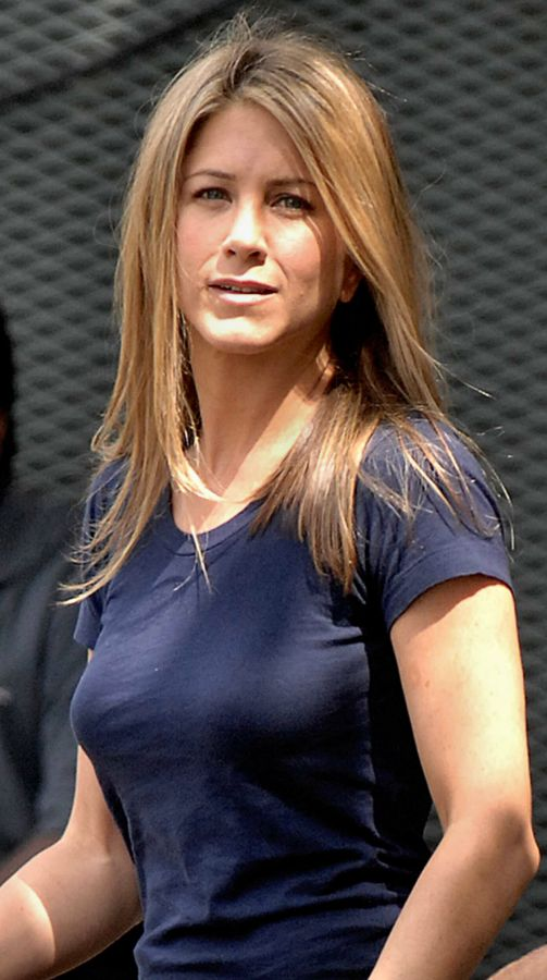 Jennifer Aniston Blue T Shirt