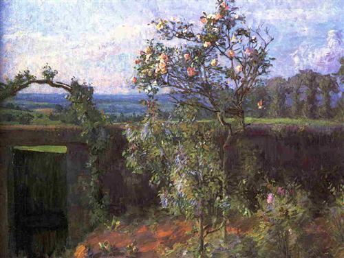 Landscape near Yerres - Gustave Caillebotte, 1877