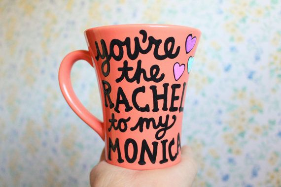 long distance mug you're the rachel to my monica coffee cup friends tv show #friends by astraychalet