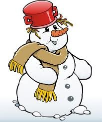 snowman with pot as hat