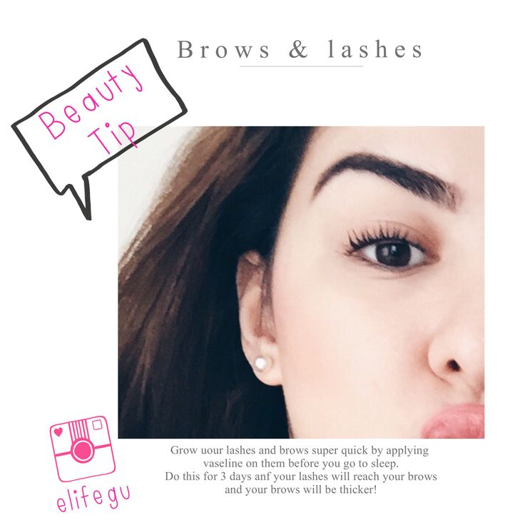 Want to grow long lashes and super thick eyebrows? Dab petroleum jelly on your brows and roots of the lashes and you'll wake up to a jungle in your face!