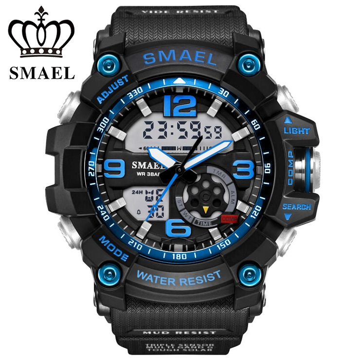 S Shock Military Watches Army Men's Wristwatch LED Quartz Watch Digtial Dual Time Men Clock 1617  reloj hombre Sport Watch Army  Price: 0.68 USD
