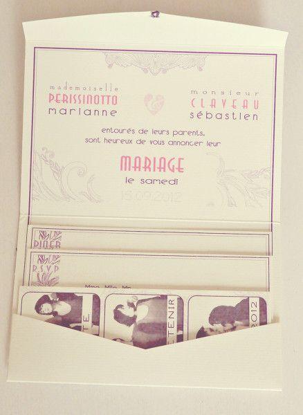 Faire part mariage rétro collection m&s (complet) - Fete un reve