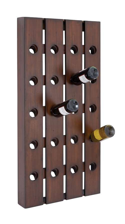 Wall Mounted To Conserve Space This Wine Rack Holds 20