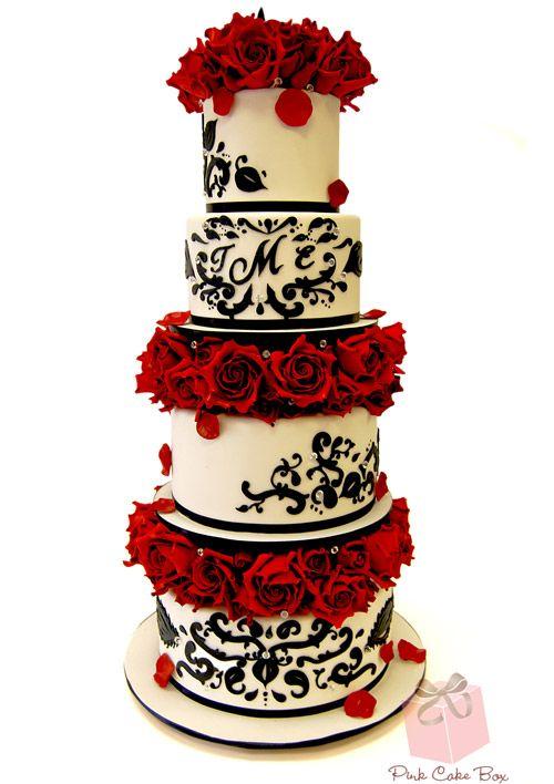 Our Favorite Damask Wedding Cakes! | http://blog.pinkcakebox.com/favorite-damask-wedding-cakes-2014-03-20.htm