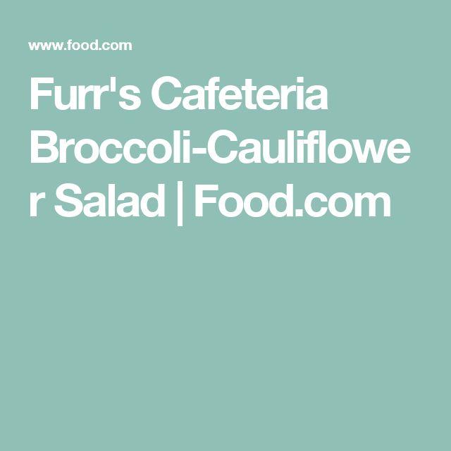 Furr's Cafeteria Broccoli-Cauliflower Salad   Food.com