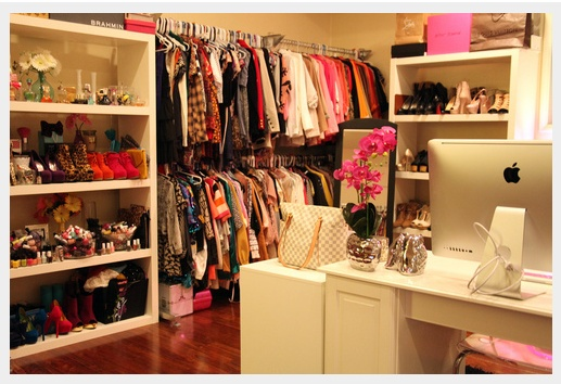 This is the most inspirational closet-office!