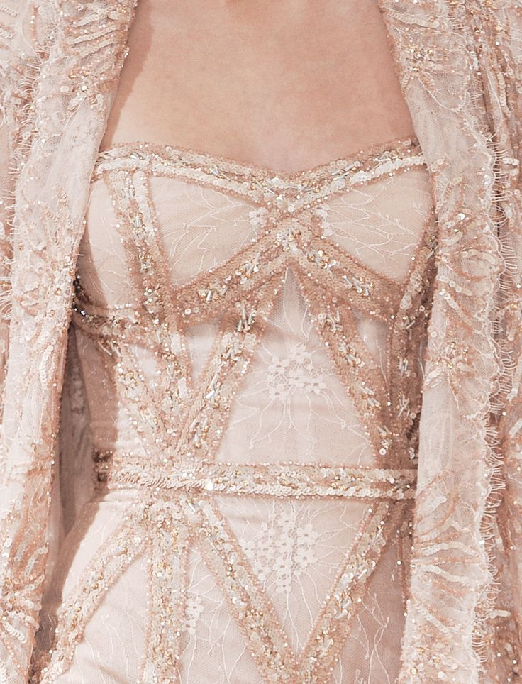 Pink Sparkle Haute Coutue with Beads & Lace ~ by Zuhair Murad .... Winter 2013 ....