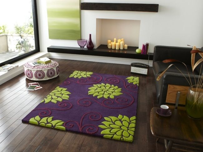 Die Besten 20+ Teppich Lila Ideen Auf Pinterest | Lila Badezimmer ... Moderne Wohnzimmer Lila