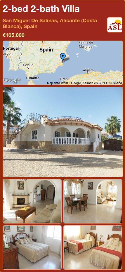 2-bed 2-bath Villa in San Miguel De Salinas, Alicante (Costa Blanca), Spain ►€165,000 #PropertyForSaleInSpain