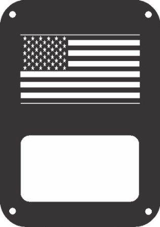 JeepTails USA Flag - Jeep JK Wrangler Tail Lamp Covers - Black - Set of 2 $29.95