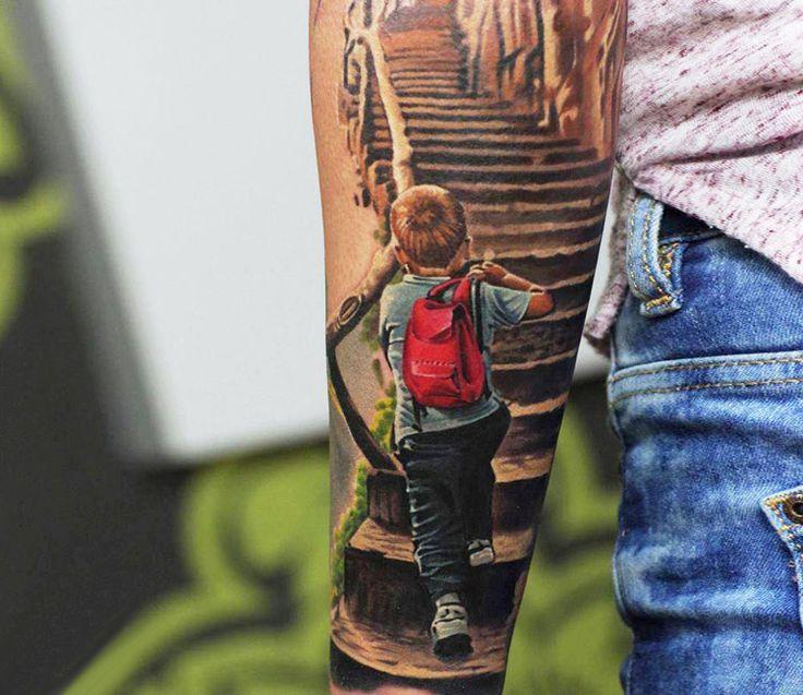 25 best realistic tattoo sleeve ideas on pinterest tatto sleeve sleeve tattoos and tattoo sleves. Black Bedroom Furniture Sets. Home Design Ideas
