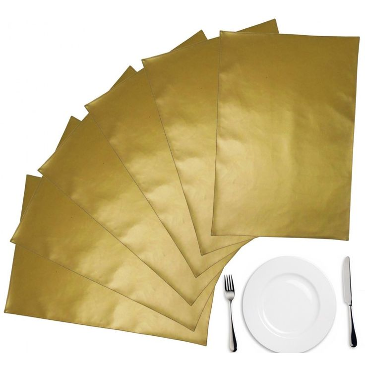 LEATHER GOLD PLACE MAT 6 PCS SET #onlineshopping http://goo.gl/ZCy4Pm