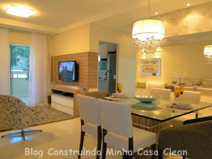25 melhores ideias sobre sala conjugada com cozinha no for Sala de estar funcional