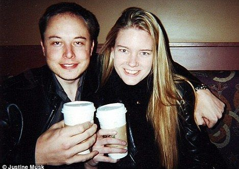Failed marriage: Elon Musk, pictured here with his first wife Justine Musk, said Riley was the 'polar opposite' of his ex-wife