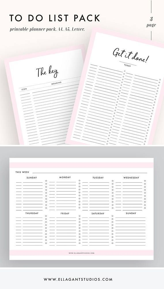 Fab to do list printables pack! These are so useful. Few different list templates in here to get organized! Personal organization is one of my big goals in 2018 so I need to get on it!!! These lists work well in a planner or bullet journal too #ad #todo #lists #organization #printable #planner #bujo #journal