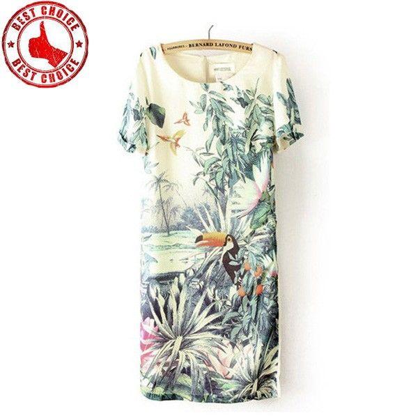 Exotische Drucken weißes Kleid