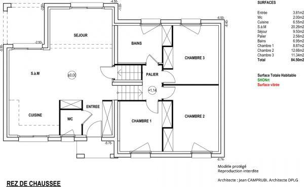 Modèle Olympe   Maison Contemporaine à Construire De Type Demi Niveau Par  Maisons Vesta