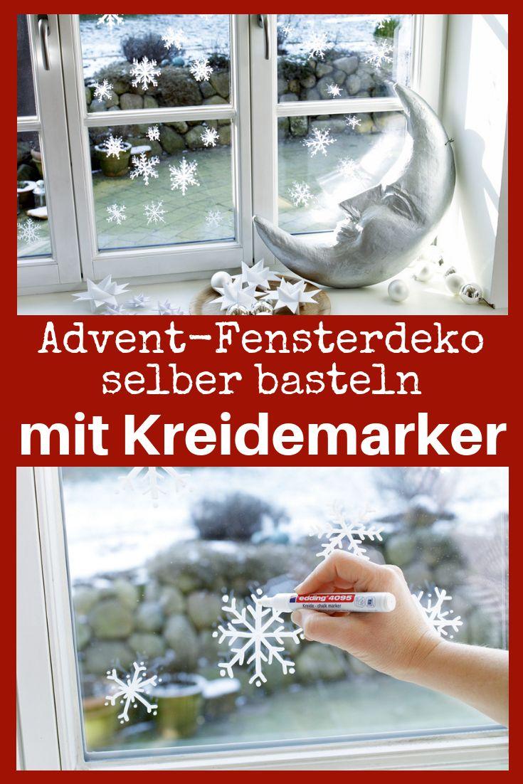 Advent: Fensterdeko basteln