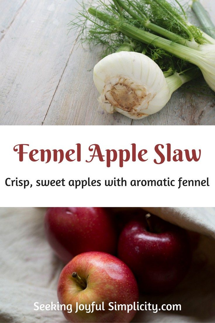 Combing sweet apples with crunchy fresh fennel, cider vinegar, and molasses for a unique slaw.